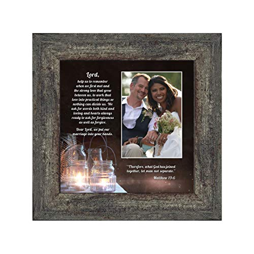 Personally Yours Marriage Prayer with Scripture, A Matthew Bible Verse, True Love Picture Frame, 10x10 6374BW ()