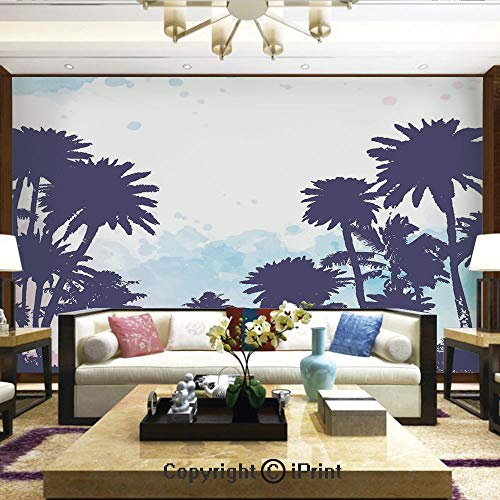Wallpaper Nature Poster Art Photo Decor Wall Mural for Living Room,Miami South American Plant Forest Tropic Natural Palm Trees Art Print,Home Decor - 100x144 inches