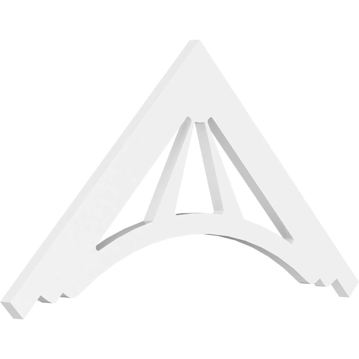 Ekena Millwork GPP036X018X100STA Gable Pediment 36''W x 18''H x 1''P (12/12) Pitch Primed