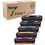 7Magic 131A toner CF210A CF210X CF211A CF212A CF213A 131X Toner Cartridge For LaserJet Pro 200 color M251nw, MFP M276nw M276n Printer (5 Pack - 2Black 1Cyan 1Yellow 1Magenta)
