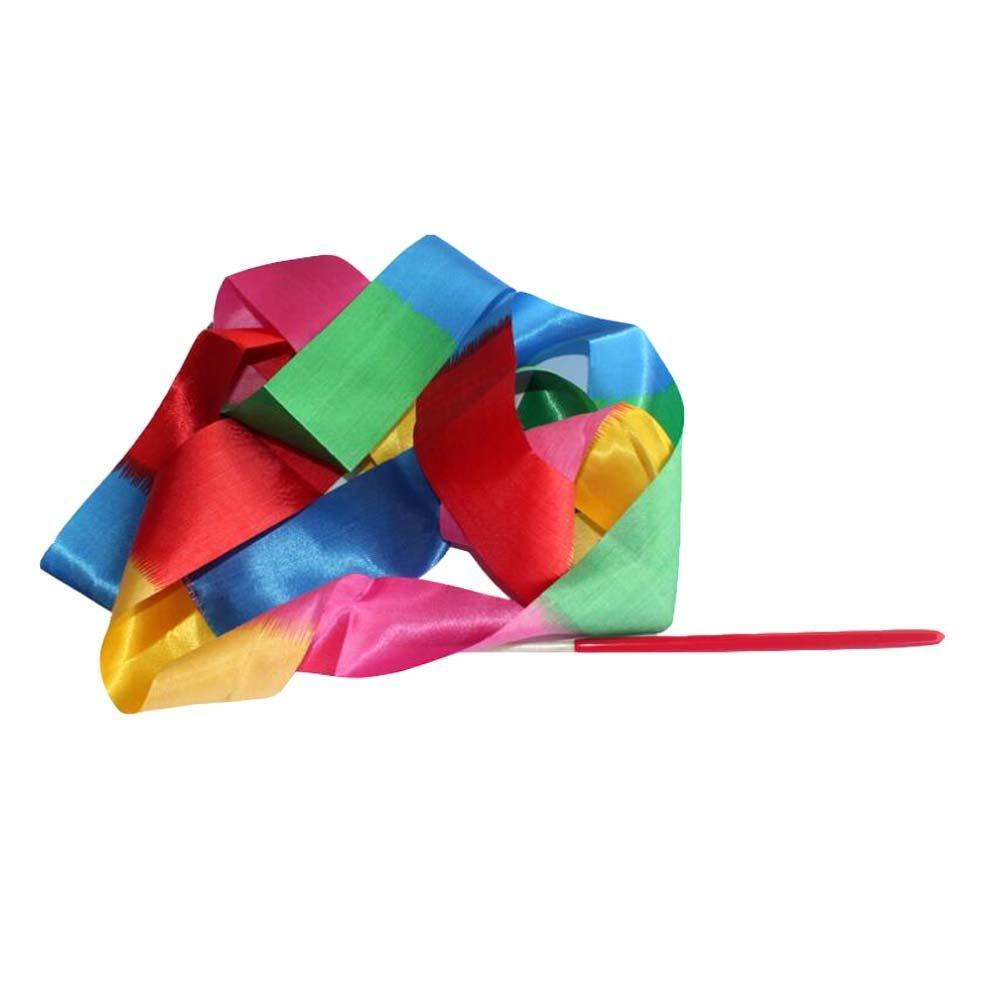 2 pcs enfants Dance Streamers Gymnastique rythmique ruban ruban de danse / coloré Blancho Bedding