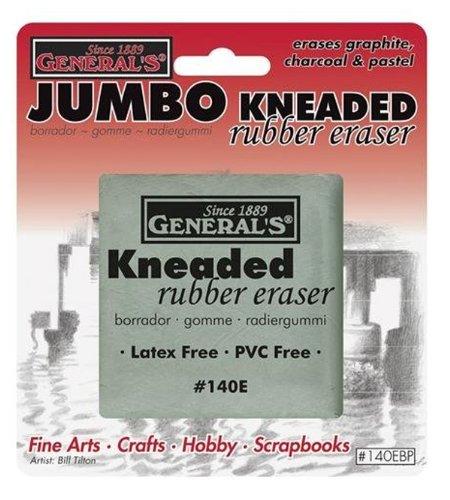 Generals Eraser - General Pencil General Kneaded Eraser Jumbo, Grey