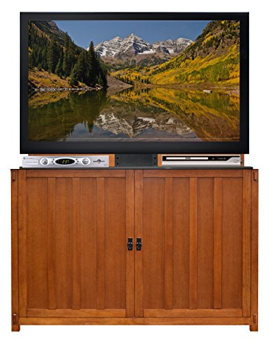 Touchstone 74006 Grand Elevate Mission TV Lift Cabinet For TVs Up To 60 inches, Whisper Lift (Mission Oak)