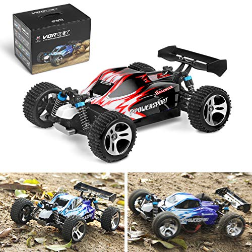 Areyourshop RC Cars Toy, Remote Control Car Wltoys A959 1/18 Scale 2.4G 4WD RTR Off-Road Buggy Electric,Red from Areyourshop