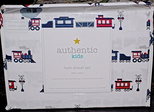 Authentic Kids Train Cotton Sheet Set, Full Size