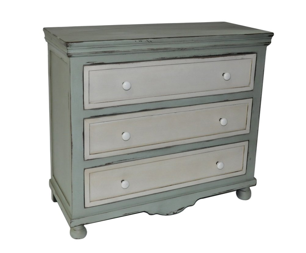 Cheung's FP-3896 Shabby Blue Cabinet with 3 Drawers by Cheung's