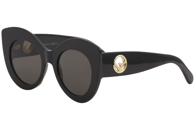 BLACK DARK GREY Fendi Women's Cat Eye Frame Sunglasses