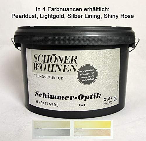 Schimmer Optik Effektfarbe Pearldust 2 5 L Incl Kreativzusatz Schoner Wohnen Amazon De Baumarkt