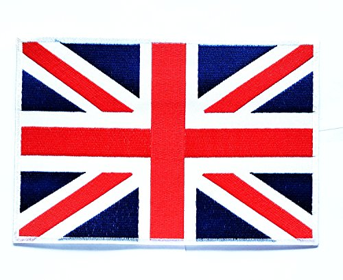 Big Jumbo UNITED KINGDOM UK LONDON Nation Country Flag Patch Logo Jackets Backpacks T-shirt Jeans Skirt Vests Scarf Hat Sew Iron on Embroidered Sign Badge Costume (United Nation Costume Uk)