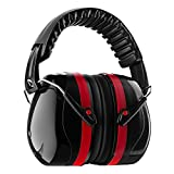 Homitt Sound Ear Muffs Hearing Protection Ear Defenders with Noise Cancelling Technology for Shooting, Hunting, Working or Construction - Red and Black