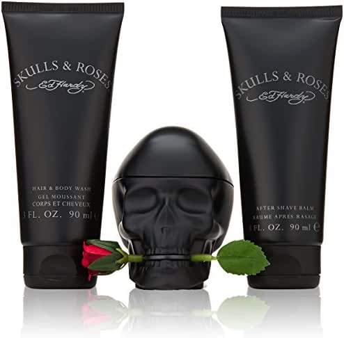 Ed Hardy Skulls and Roses Fragrance Set, 3 Count