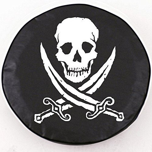 Holland Bar Stool Jolly Roger (Rough) Tire Cover In Black - 37 Inch X 12.5 - 37