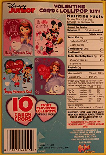 [해외]디즈니 주니어 발렌타인 카드 및 롤리팝 키트. /Disney Junior Valentine Card and Lollipop Kit. Jake Neverland Pirates Princess Sofia, Minnie and Mickey Mouse