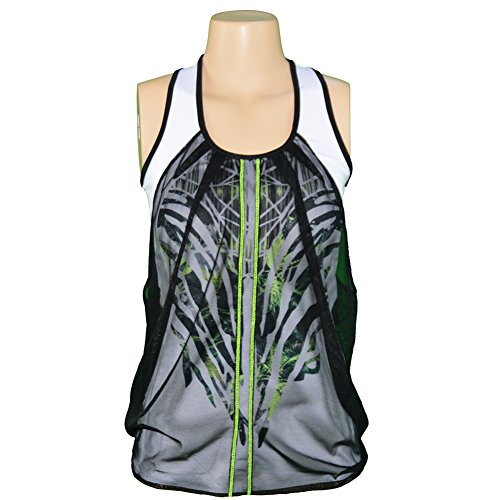 Lucky in Love Women's Into the Woods Mesh Drape Tank (X-Small) (Lucky In Love Tennis Into The Woods)