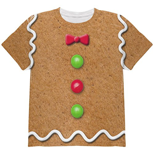Gingerbread Man Costume All Over Youth T Shirt Multi YMD -