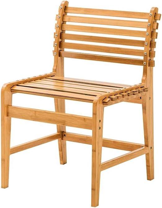WYYY silla de Oficina Silla del Comedor, Bambú Balcón Silla De ...