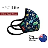 New Zealand MEO Kids Mask for Smog Flu Pollen Dust Allergy Protection, Anti Dust Mask Respirator Anti-Bacterial Reusable Respirator, Windproof Dust Proof Anti Pollen Allergy Anti-Dust mask (Dinosaur)