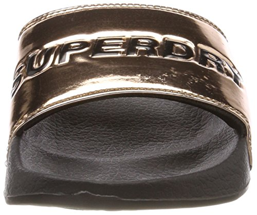 Superdry City Tjk Rose Gold Slide para Mujer Chanclas Rosa ffrARq