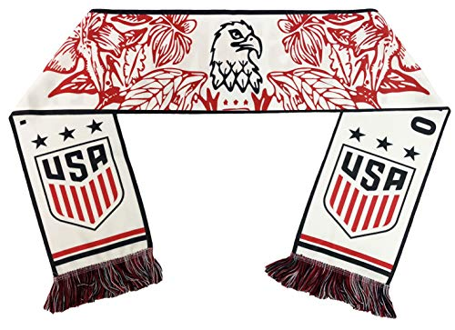 RUFFNECK US Women's National Team- Flora Eagle Soccer Scarf, White, One Size