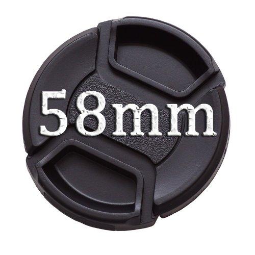 IMZ Lens Cap Bundle - 3 x 58MM Front Lens Filter Snap On Pinch Cap Protector Cover For DSLR SLR Camera Lens