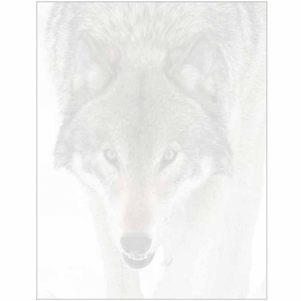 Wolf Face Stationery Letter Paper - Wildlife Animal Theme Design - Gift - Business - Office - Party - School Supplies
