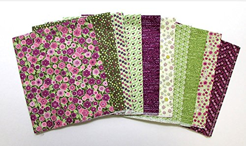 Soho Calico Pink 10 pc Cotton Fabric Quilting FQs Assortment by Benartex - Soho Stores