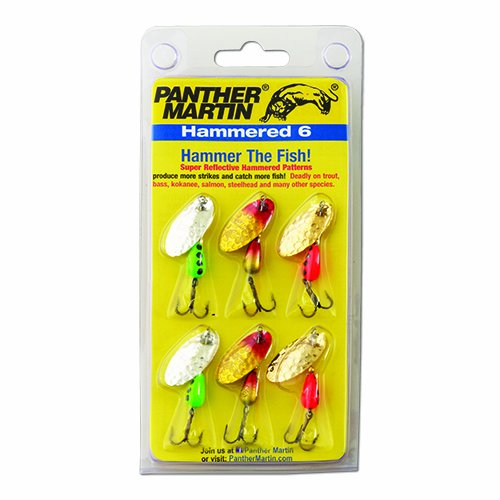 Panther Martin Hammered Spinner Fishing Lure Kit (6-Pack)