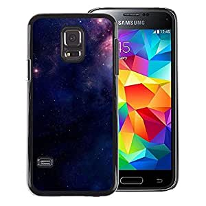 A-type Arte & diseño plástico duro Fundas Cover Cubre Hard Case Cover para Samsung Galaxy S5 Mini (Not S5), SM-G800 (Purple Space Stars Mysterious Night)