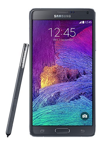 Samsung Galaxy Note 4 N910a 32GB Unlocked GSM 4G LTE Smartphone w/ 16MP Camera - Black - International Version, No Warranty