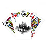Milano Italy Landmark Ink City Painting Poker Playing Cards Tabletop Game Gift