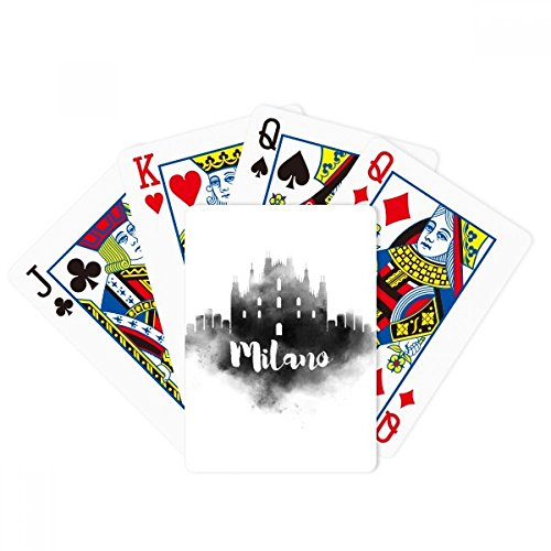 Milano Italy Landmark Ink City Painting Poker Playing Cards Tabletop Game Gift by beatChong