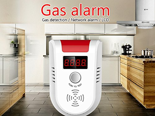KERUI GD13 Home Universal Security Instruments liquefied petroleum gas natural gas methane Combustible Gas Detector Alarm Sensor System with Voice Warning prompt by KERUI (Image #3)