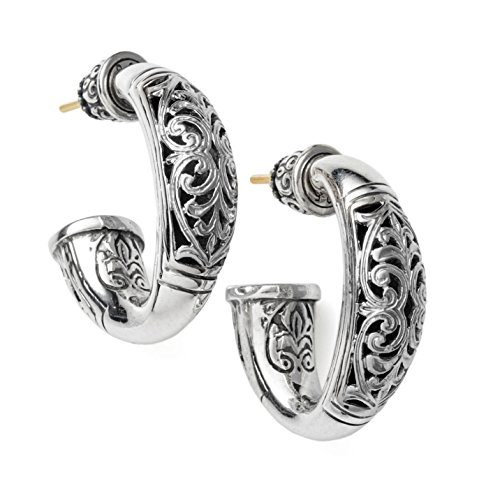 Konstantino Women's Classic Sterling Silver Oval Hoop Earrings