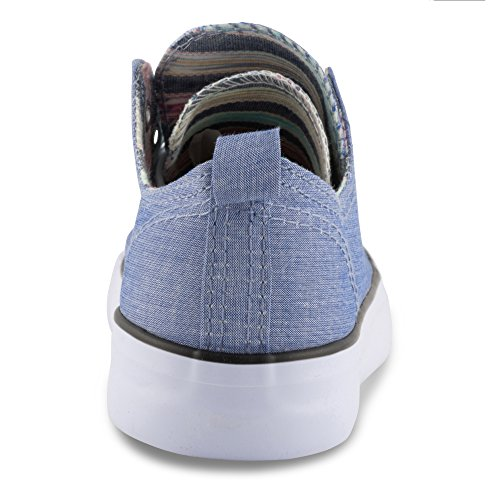 Lace Aztec Tounge Sneaker Double Womens W KIX up Twisted Chambray HCnqIzwn