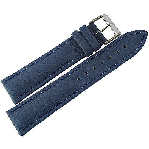 Lorica Strap - Eulit Lorica 22mm Blue Vegan Leather Waterproof Watch Strap
