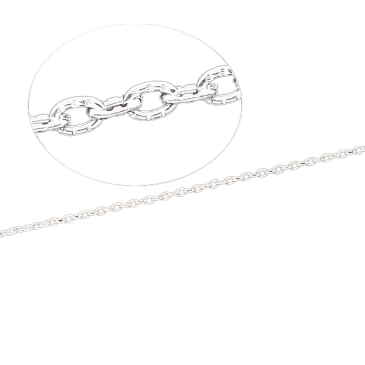Housweety 10M Silver Plated Textured Cable Link Chain 3x2mm