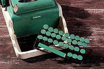 Antigua de resina, diseño de máquina de escribir hechos a mano, objetos de las antiguas actividades de resina: Amazon.es: Hogar