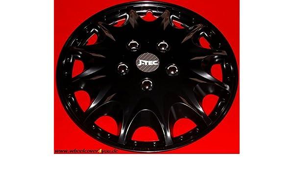 J-Tec 4 Tapacubos Tapacubos para Fiat Ducato/HYMER/Peugeot/Citroen in15black de nuevo top: Amazon.es: Coche y moto