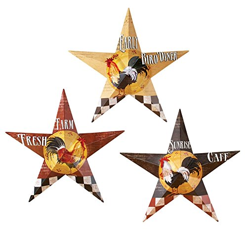 Rooster Barn Stars Wall Decor