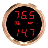 VEI Systems Dual-Display gauge: Hi-res vacuum-boost and wideband air-fuel ratio (red/silver)