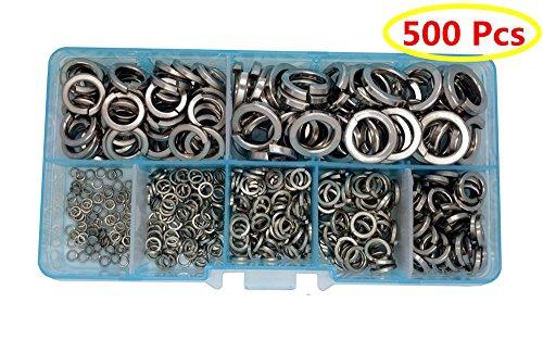 Hot Guard4U 500Pcs 7-size Stainless Steel lock Washers Assortment Kit, For M2 M3 M4 M5 M6 M8 M10 screws bolt supplier