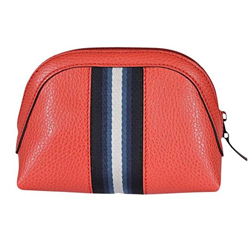 Gucci Women's Web Leather Cosmetic Case 339558 6561 Coral Red by Guccí
