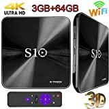 TV Box, 3GB DDR4 +64GB Super-VIP S10 Android 7.1 Smart 4K TV Box Dual Wifi 2.4G/5G Amlogic 912 Octa Cora Set Top Boxes Support 3D 4K HD TV Bluetooth 4.1