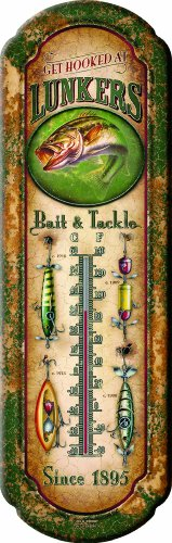 Rivers-Edge-1291-Lunkers-Bait-and-Tackle-Nostalgic-Tin-Thermometer