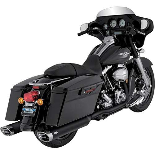 Vance & Hines Monster Oval 5-1/2&Prime, Slip Ons Black with Chrome Tips 46755 ()