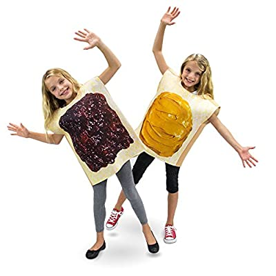 Peanut Butter & Jelly Childrens Halloween Dress Up Party Cosplay Costumes 2-Pack: Clothing