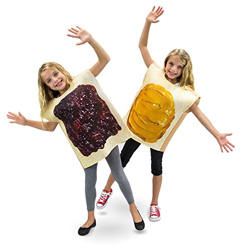 Peanut Butter & Jelly Childrens Halloween Dress Up Party Cosplay Costumes 2-Pack (Youth Large -