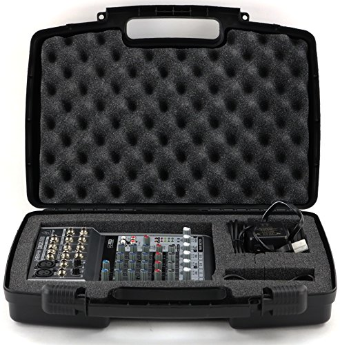 Hard Storage Case For Audio Mixers- Fits Behringer, 802, Q802usb, 1002fx, Qx1002usb, 1002b, And Acce