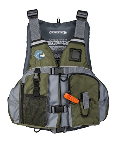 MTI Solaris F-Spec Fishing Life Jacket - Olive Drab/Gray - MD/LG (36-46