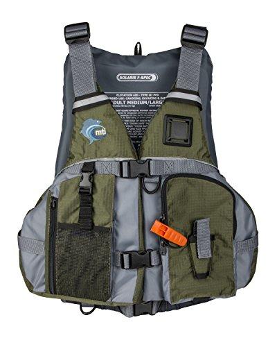 - MTI Solaris F-Spec Fishing Life Jacket - Olive Drab/Gray - MD/LG (36-46